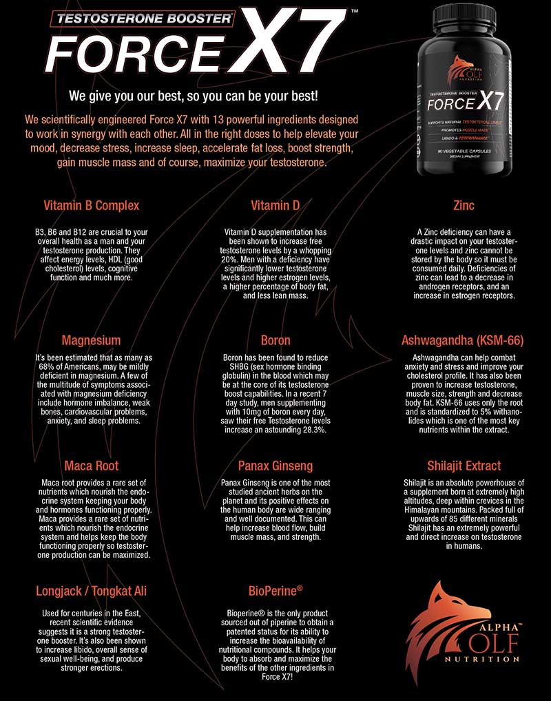 Force X7 Ingredients
